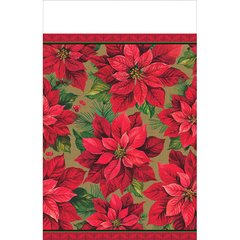 Holiday Poinsettia Tablecover