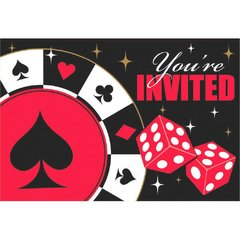 Casino Postcard Invitations W/Seals