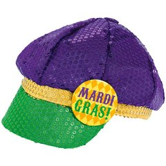 Mardi Gras Sequined Floppy Hat