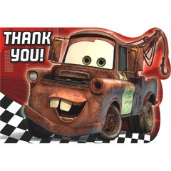 ©Disney Cars Formula Racer Postcard Thank You Cards