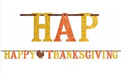 Happy Thanksgiving Letter Banner