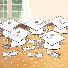 White Graduation Table Decorating Kit