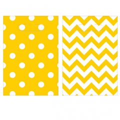 Chevron Loot Bags - Yellow Sunshine