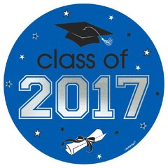 2017 Grad Car Decal - Blue