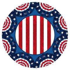 "American Pride Round Plates, 9"""