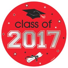 2017 Grad Car Decal - Red