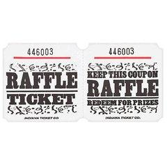 White Raffle Ticket Roll