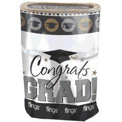 Grad Flings® Bin - Black, Silver & Gold