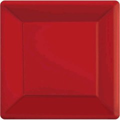 """Apple Red Square Paper Plates, 7"""" 20ct"""