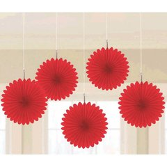 Apple Red Mini Hanging Fan Decorations