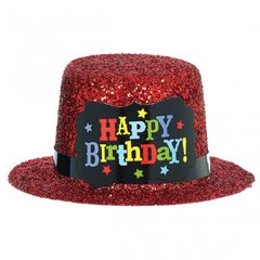 Birthday Brights Mini Glitter Hat