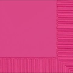 Bright Pink 2-Ply Beverage Napkins, 50ct