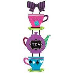 Mad Tea Party Specialty Triple MDF Sign