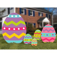 Easter Eggs Corrugated Signs