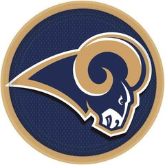Los Angeles Rams Round Plates 9in