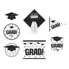 White Graduation Deluxe Cutouts