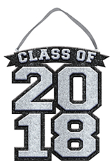 """""""2018"""" Class of 2018 Sign - Silver"""