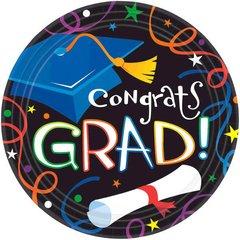 "Grad Celebration Plates, 9"""