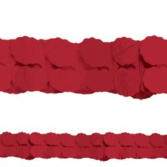 Apple Red Paper Garland, 12'