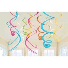 Multi Plastic Swirl Decorations, 12ct