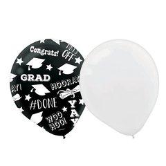 Grad Balloons - All Over Print - Black & White