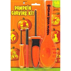Basic Pumpkin Carving Kit w/Stencils