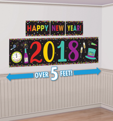 """2018"" New Year's Scene Setters® Decorating Kit - Jewel Tone"
