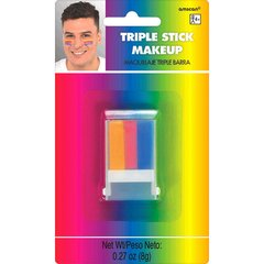 Rainbow Triple Stick Makeup
