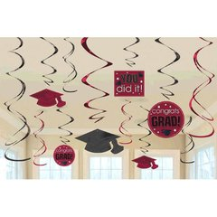 Berry Grad Value Pack Swirl Decorations