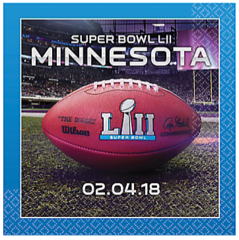 """Super Bowl LII"" Beverage Napkins"