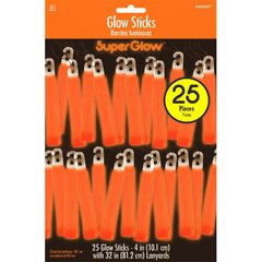 "Orange, 4"" Glow Stick Mega Value Pack"