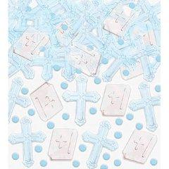 Blue Cross Foil Confetti
