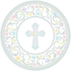 Blessed Day Round Plates, 7""