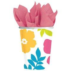 Hibiscus White Cups, 9oz. 25ct