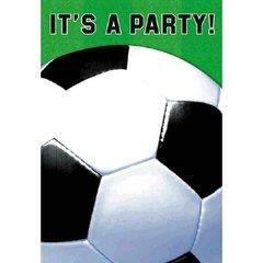 Soccer Fan Folded Invitations 8ct