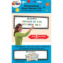 Officially Retired Personalized Giant Banner Kit