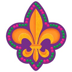 Mardi Gras Cutout - Small 8 in