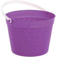 Weave Plastic Bucket - Purple