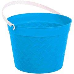 Weave Plastic Bucket - Blue