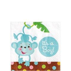 Boy Fisher-Price Baby Shower Beverage Napkins 16ct