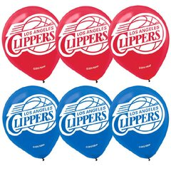 LA Clippers Printed Latex Balloons