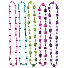 Mad Tea Party Bead Necklaces Multipack