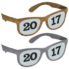 2017 New Year's Printed Glasses Multipack - Black, Silver, Gold