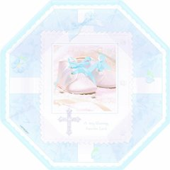 """Tiny Blessing Blue 10"""" Octagonal Plates 8ct"""