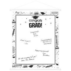 White Graduation Sign-In Scroll