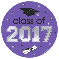 2017 Grad Car Decal - Purple