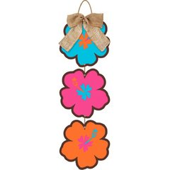 Beachy Blooms Hanging Sign w/Bow