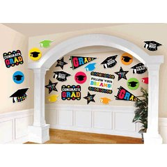 Grad Mega Value Printed Paper Packaged Cutouts - Multicolor