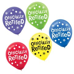 Officially Retired Printed Latex Balloons
