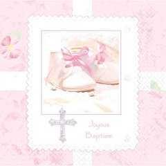 Tiny Blessing Pink Luncheon Napkins 36ct
